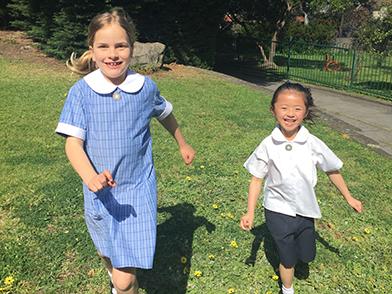 A new term and new girls' summer uniform